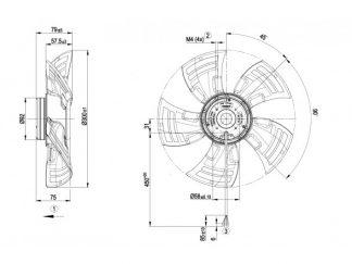 Осевой вентилятор A1G300AC1954 A1G300-AC19-54