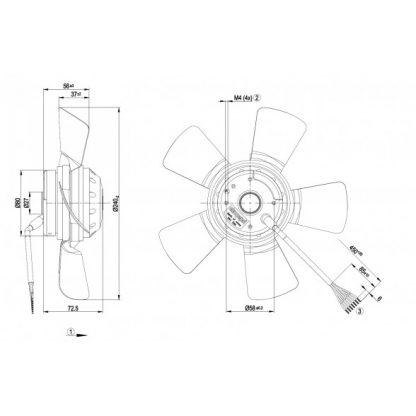 Осевой вентилятор A2D240AA0202 A2D240-AA02-02