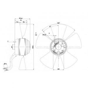 Осевой вентилятор A2E250AE6501 A2E250-AE65-01