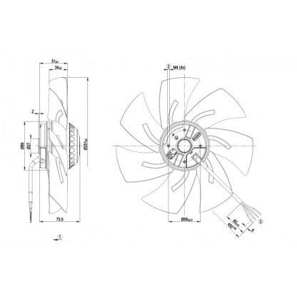 Осевой вентилятор A2E250AL0601 A2E250-AL06-01