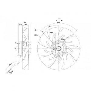 Осевой вентилятор A2E250AM0601 A2E250-AM06-01