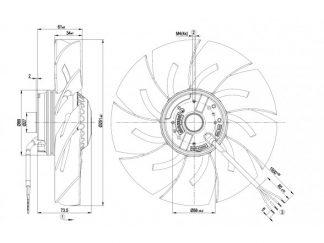 Осевой вентилятор A2E250AM0612 A2E250-AM06-12