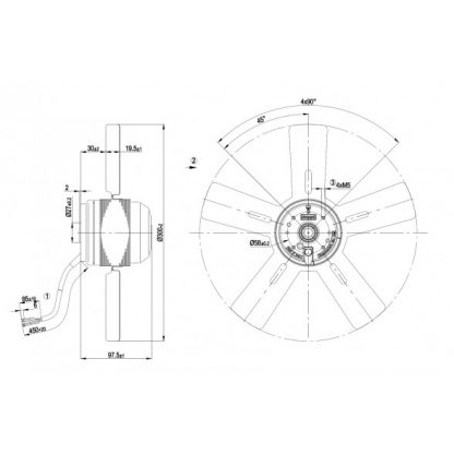 Осевой вентилятор A2E300AC4702 A2E300-AC47-02