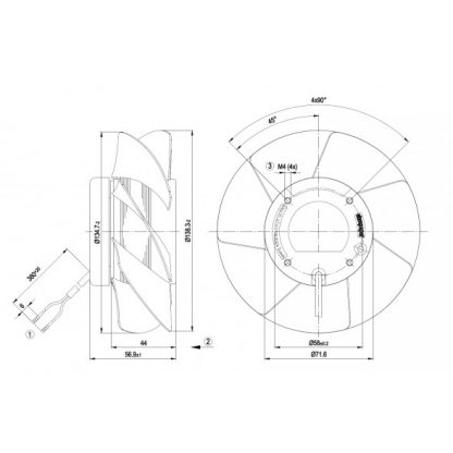 Осевой вентилятор A2S130AA0301 A2S130-AA03-01