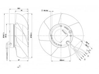 Осевой вентилятор A2S130AA0333 A2S130-AA03-33