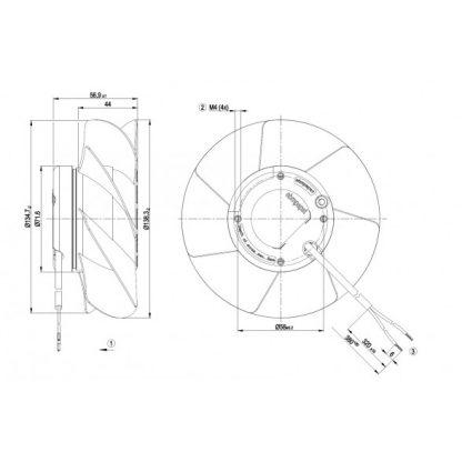 Осевой вентилятор A2S130AA2501 A2S130-AA25-01