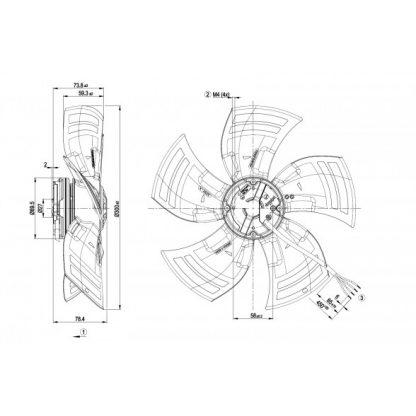Осевой вентилятор A3G300AK1301 A3G300-AK13-01