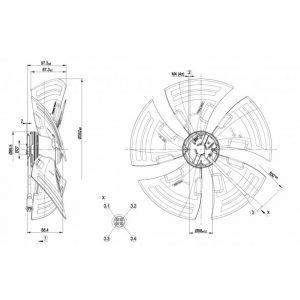 Осевой вентилятор A3G350AG0306 A3G350-AG03-06