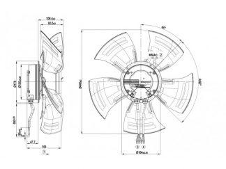 Осевой вентилятор A3G450AC2852 A3G450-AC28-52
