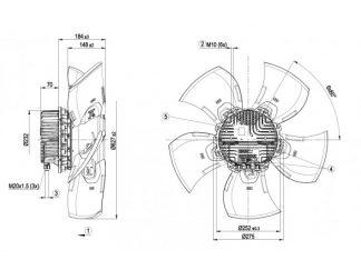 Осевой вентилятор A3G630AH2309 A3G630-AH23-09