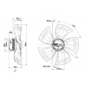 Осевой вентилятор A3G630AR8590 A3G630-AR85-90