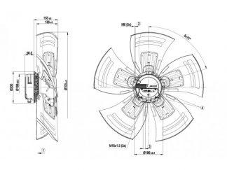Осевой вентилятор A3G710AO8190 A3G710-AO81-90