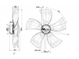 Осевой вентилятор A3G800AO8490 A3G800-AO84-90