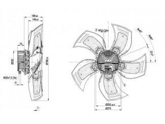 Осевой вентилятор A3G800AU2371 A3G800-AU23-71