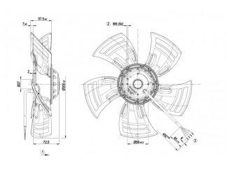 Осевой вентилятор A4D300AS3402 A4D300-AS34-02