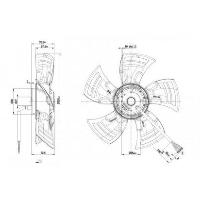Осевой вентилятор A4D300AS3416 A4D300-AS34-16