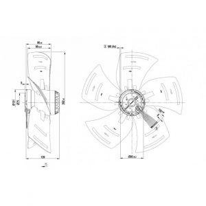 Осевой вентилятор A4D400AS0411 A4D400-AS04-11