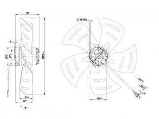 Осевой вентилятор A4D420AP0202 A4D420-AP02-02