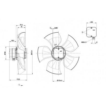 Осевой вентилятор A4D420AU0202 A4D420-AU02-02