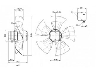 Осевой вентилятор A4D450AO1004 A4D450-AO10-04