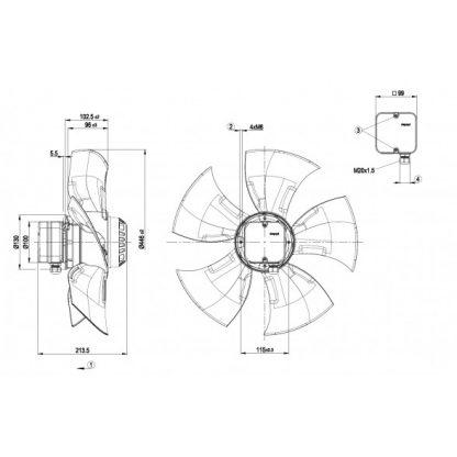 Осевой вентилятор A4D450AO1401 A4D450-AO14-01