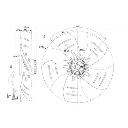 Осевой вентилятор A4D450AP0102 A4D450-AP01-02