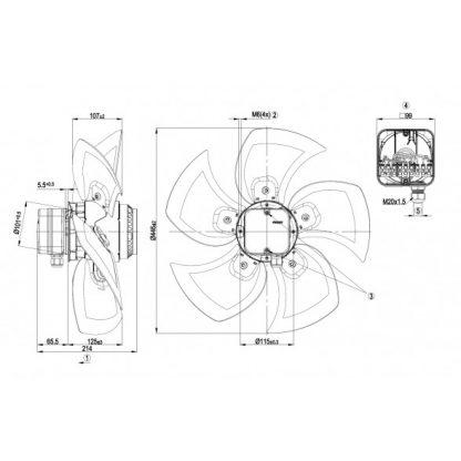 Осевой вентилятор A4D450BG1451 A4D450-BG14-51