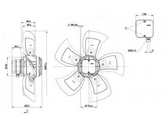 Осевой вентилятор A4D500AE0301 A4D500-AE03-01