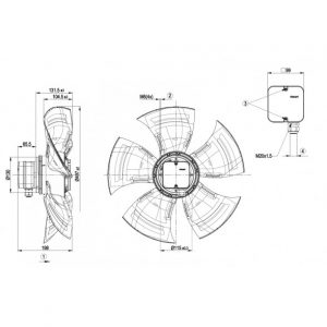 Осевой вентилятор A4D500AJ0302 A4D500-AJ03-02