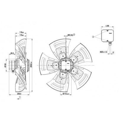 Осевой вентилятор A4D560AN0301 A4D560-AN03-01