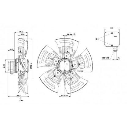 Осевой вентилятор A4D560AO0302 A4D560-AO03-02