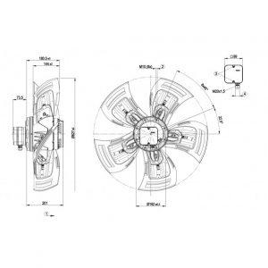 Осевой вентилятор A4D630AD0102 A4D630-AD01-02