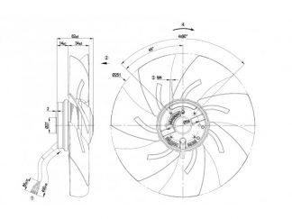 Осевой вентилятор A4E250AH0201 A4E250-AH02-01
