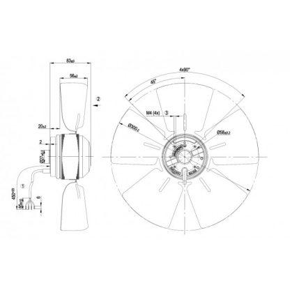 Осевой вентилятор A4E300AA0101 A4E300-AA01-01