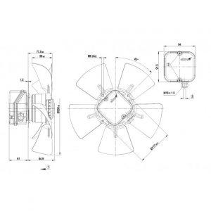 Осевой вентилятор A4E300AA0148 A4E300-AA01-48