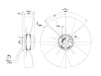 Осевой вентилятор A4E300AB0118 A4E300-AB01-18