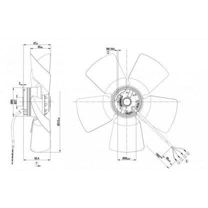 Осевой вентилятор A4E315AC0818 A4E315-AC08-18