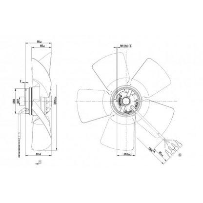 Осевой вентилятор A4E315AC0819 A4E315-AC08-19