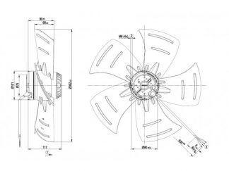 Осевой вентилятор A4E400AP0202 A4E400-AP02-02