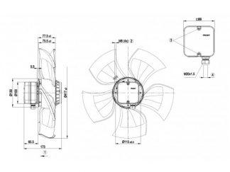 Осевой вентилятор A4E420AU0301 A4E420-AU03-01