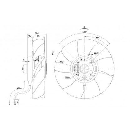 Осевой вентилятор A4S200AI0401 A4S200-AI04-01