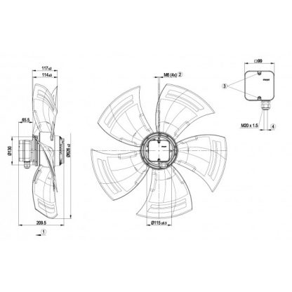 Осевой вентилятор A6D630AN0101 A6D630-AN01-01