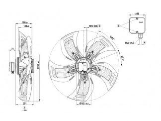 Осевой вентилятор A6D800AD0102 A6D800-AD01-02