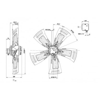 Осевой вентилятор A6D910AA0102 A6D910-AA01-02