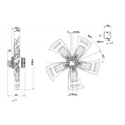 Осевой вентилятор A6D990AX0506 A6D990-AX05-06