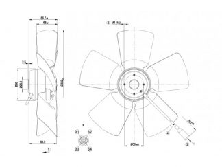 Осевой вентилятор A6E330AA0210 A6E330-AA02-10
