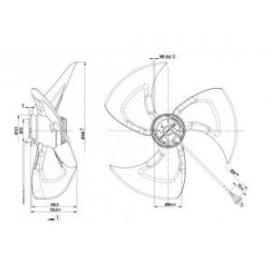 Осевой вентилятор A6E450AF1312 A6E450-AF13-12