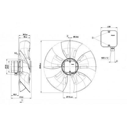 Осевой вентилятор A6E450AU0401 A6E450-AU04-01