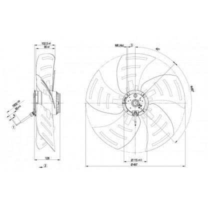 Осевой вентилятор A6E500BB0510 A6E500-BB05-10