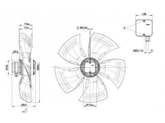 Осевой вентилятор A6E630AN0101 A6E630-AN01-01